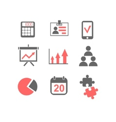 flat line icons set business planning process vector image