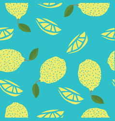 Food collection lemons hand drawn seamless pattern vector