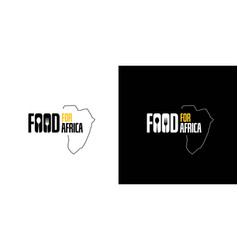 Food word logo for africa is simple vector