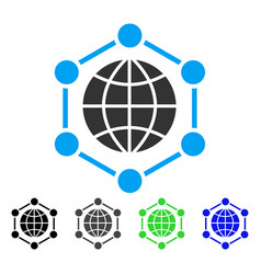 Global frame flat icon vector