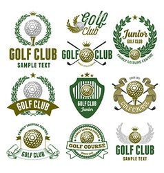 Golf logo set vector image