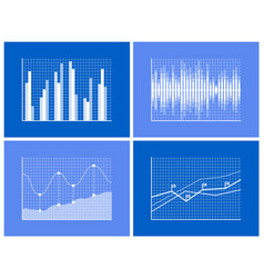 graphical charts collection vector image