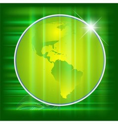 Green Earth background vector