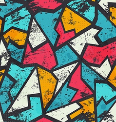 grunge colored graffiti seamless pattern vector image