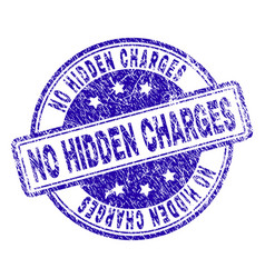 Grunge textured no hidden charges stamp seal vector
