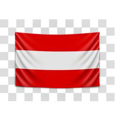 Hanging flag austria republic austria vector