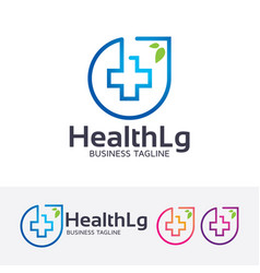 health logo design vector image