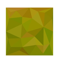 Heart Gold Green Abstract Low Polygon Background vector image
