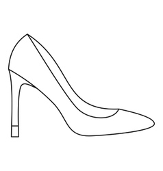 High heel women shoe icon outline style vector