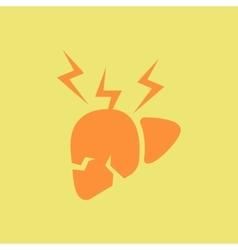 Human organ liver various symptoms of malaria on vector