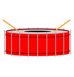 isolated drum musical instrument vector image