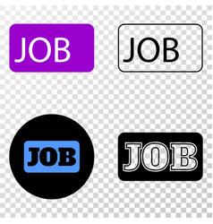 job caption eps icon with contour version vector image