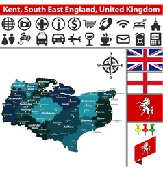 Kent South East England vector