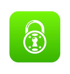 lock icon green vector image