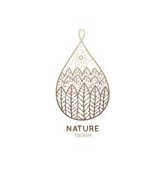 Logo nature drop vector