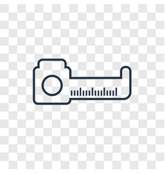 Measure concept linear icon isolated on vector