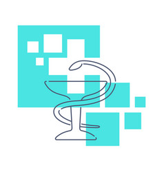 Medical logo for medicine center pharmacy vector