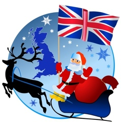 Merry Christmas United Kingdom vector image