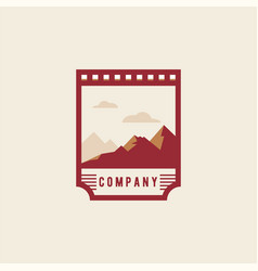 Mountain logo national park logo travel badge vector