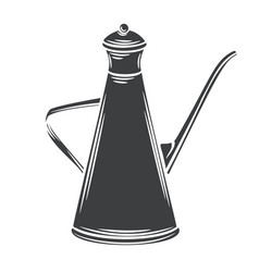 Olive oil metal dispenser glyph icon vector