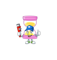 Plumber sandglass isolated with on white vector