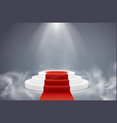 Round podium pedestal platform illuminated vector