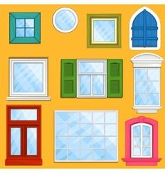 Set of windows vector image