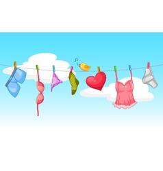 Sexy laundry vector