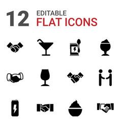 Shake icons vector