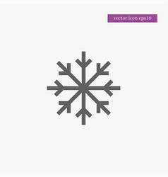 Snowflake icon simple vector