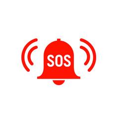 sos icon emergency alarm button sos sign symbol vector image
