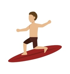 surfer man silhouette vector image