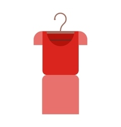T-shirt Isolated on White Red Football Jersey vector