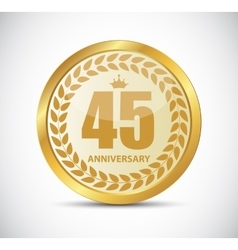 Template Logo 45 Years Anniversary vector