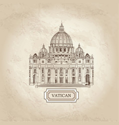 Travel background vatican st peters cathedral vector