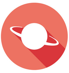 Ufo icon with a long shadow vector