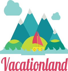 Vacation Land vector image