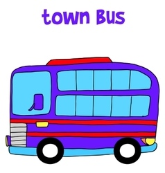 Vetcor of town bus vector image