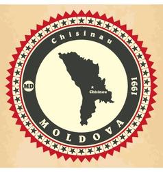 Vintage label-sticker cards of moldova vector