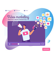 viral video marketing personal brand promotion vector image