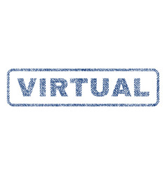 virtual textile stamp vector image