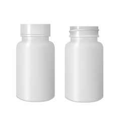 white bottle for pills 3d mock up vector image
