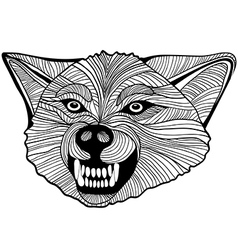 Wolf head animal for t-shirt sketch tattoo design vector
