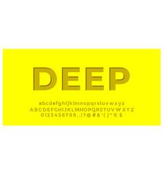Yellow deep font styles design template vector