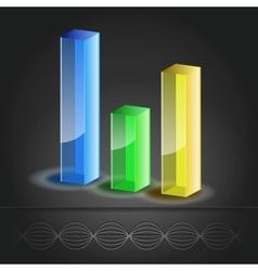 Bar Chart icon vector image vector image