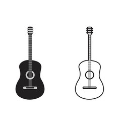 classic guitar outline vector image vector image