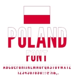 Poland Flag Font vector image