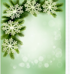 retro background with christmas tree vector image vector image