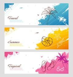 splash travel vector image vector image