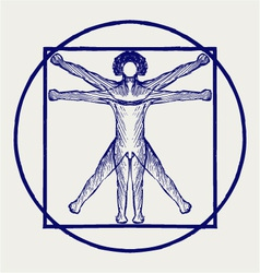 Vitruvian man vector image vector image